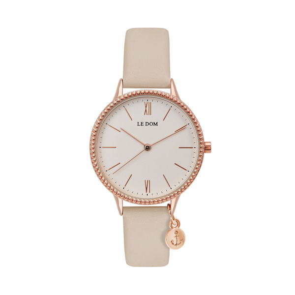 LE DOM Anchor beige leather strap LD.1261-3