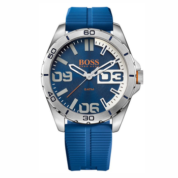 BOSS ORANGE Berlin blue dial & blue rubber