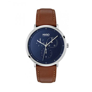 BOSS RED blue dial & brown strap
