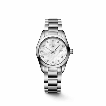 LONGINES Conquest Classic Mother-of-pearl & Diamonds