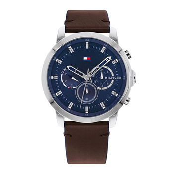 TOMMY HILFIGER Jameson black dial & brown strap