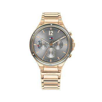TOMMY HILFIGER Eve grey dial & rose bracelet